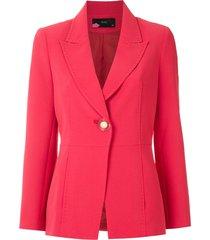 eva stitch-trim tailored blazer - pink