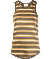 saint laurent horizontal-stripe pattern sleeveless top