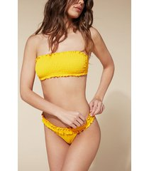 calzedonia elisa brazilian bikini bottoms woman yellow size 2