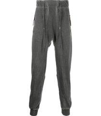 11 by boris bidjan saberi dropped-crotch track pants - grey