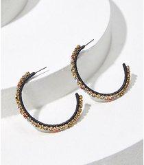 loft rhinestone hoop earrings