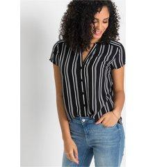 blouse met korte mouwen