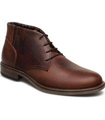 7750 snörade stövlar brun playboy footwear