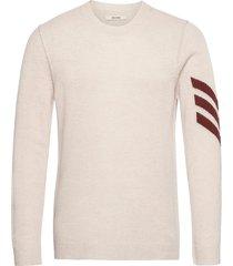 kennedy c arrow int sweater cashmere intarsia slee stickad tröja m. rund krage creme zadig & voltaire