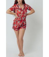 kilo brava women's short pajama set