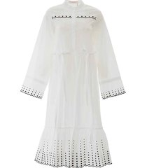 see by chloé see by chloè embroidered midi dress