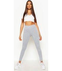 basic high waist leggings, grey marl