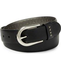 dkny women's logo-detail belt