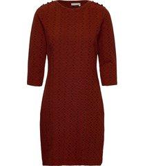 frmevar 1 dress knälång klänning röd fransa