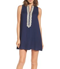 women's lilly pulitzer jane shift dress, size 14 - blue