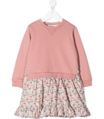 bonpoint integrated sweater dress - pink