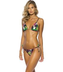 biquíni ripple kalini beachwear dupla face bromélia 2 em 1 - i