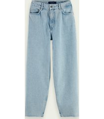 scotch & soda balloon fit katoenen jeans - crystalized in time