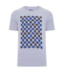 camiseta masculina allover squared chicub - cinza