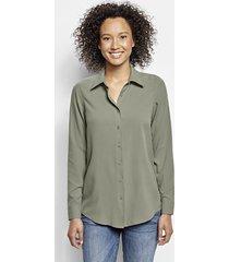 everyday silk shirt, juniper, xl