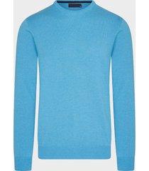 michaelis aqua pullover | ronde hals | katoen | shirtdeal