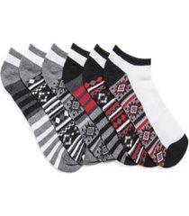 muk luks men's 6 pair pack no show compression arch socks