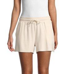 splendid women's tie-waist shorts - oatmeal - size l