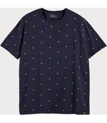 scotch & soda t-shirt van biologisch katoen met all-over-print