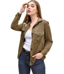 blusa sally verde militar racaventura