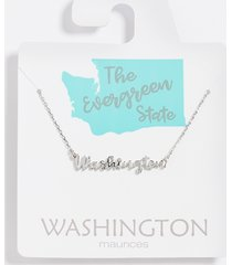 maurices womens dainty washington necklace gray