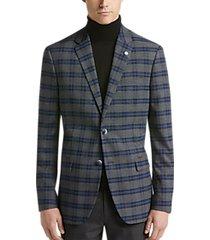 ben sherman gray plaid extreme slim fit sport coat