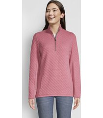 placed quilted quarter-zip sweatshirt, roseberry, x large