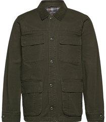 barn jacket doorgestikte jas groen j.crew