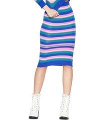 bcbgeneration striped midi sweater skirt