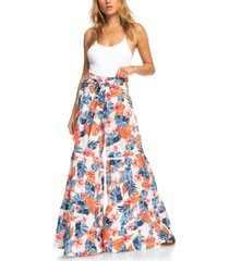 roxy pismo state beach floral-print tiered pants