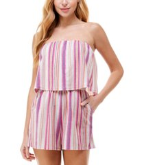be bop juniors' striped popover romper