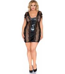andalea zwart net jurkje z/5005 van andelea