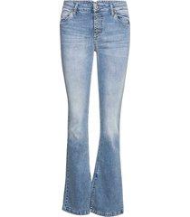 bootcut split light d jeans utsvängda blå please jeans