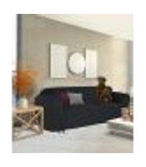 capa para sofá 5 lugares em gorgurão resistente lavável casa lar confortável lisa laços cor preto