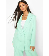 premium double breasted blazer, mint