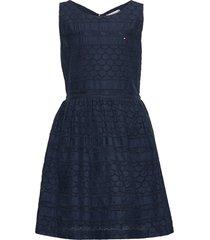 broderie anglaise dress slvls night & underwear pyjamas nightdresses blauw tommy hilfiger