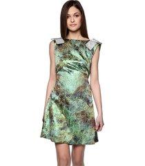 sukienka z połyskiem zielona