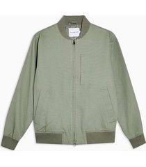mens green sage ottoman bomber jacket