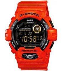 reloj g shock g_8900a_4 rojo resina unisex