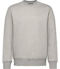chip crew neck sweatshirt sweat-shirt trui grijs j. lindeberg