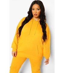 plus basic oversized hoodie, tangerine