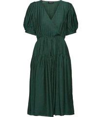 slfgitta 2/4 midi dress ex jurk knielengte groen selected femme