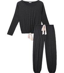 women's eberjey gisele slouchy pajamas, size medium - grey