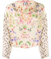 anntian harvest party print blouse - neutrals