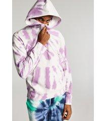 sun + stone men's regular-fit tie-dyed fleece hoodie, created for macy's