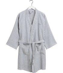 stripe robe morgonrock badrock blå gant