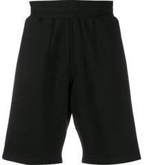 givenchy givenchy reflective bands track shorts - black