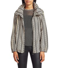 akris punto women's veronique tweed anorak jacket - size 10