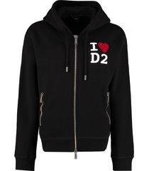 dsquared2 full zip hoodie