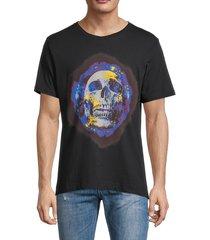 robert graham men's cotton skull t-shirt - black - size s